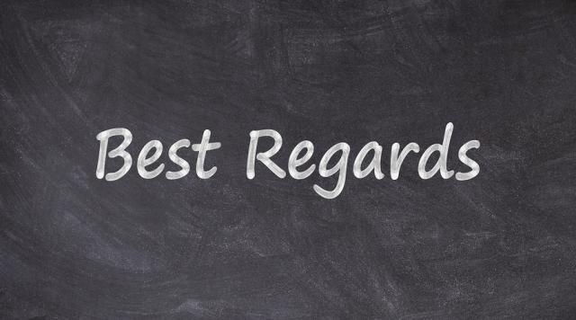Best regard là gì