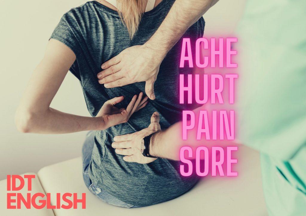 Ache, Hurt, Pain, Sore